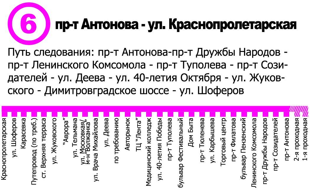 Маршрут 6ТБ - Ульяновскэлектротранс.