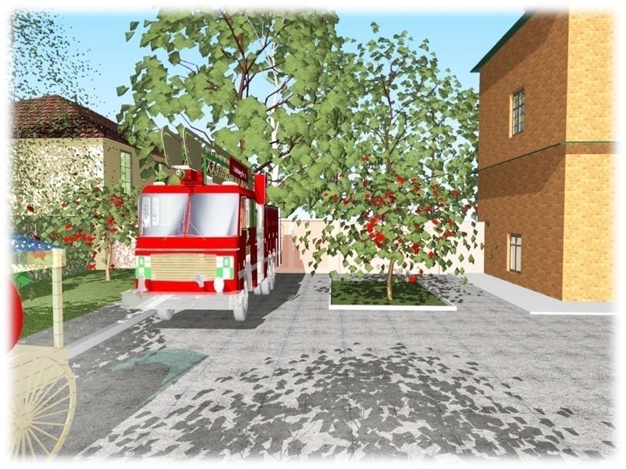 Проект благоустройства усадьбы музея пожарной охраны