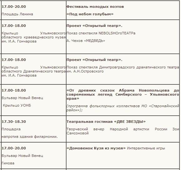 13_5 вечерняя программа