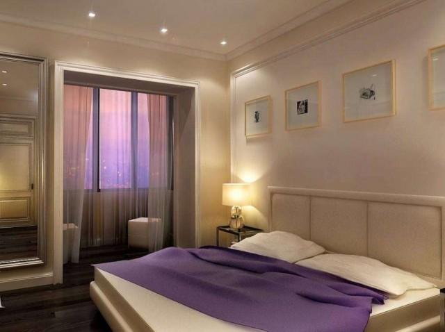 спальня обставленная с простотой